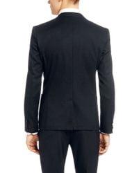 HUGO - Blue Slim Fit Jacket 'Alesono' In Cotton Blend for Men - Lyst
