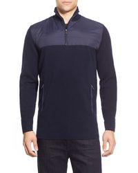 Bugatchi | Blue Quarter Zip Merino Wool Sweater for Men | Lyst