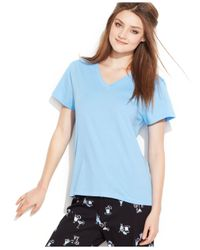 Hue | Blue V-neck Pajama Top | Lyst