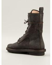 Trippen Black Lace-Up Boots