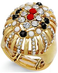 INC International Concepts - Metallic Gold-tone Stone Ring - Lyst