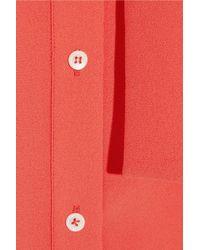 Iris & Ink | Red Rosalie Crepe Shirt Dress | Lyst