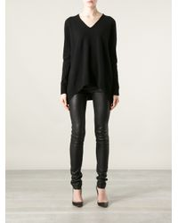 The Row Black Mio Sweater