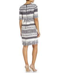 Tahari - Multicolor Printed Half Sleeve Dress - Lyst