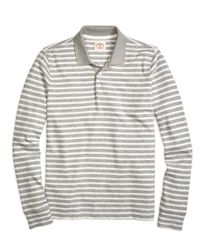 Brooks Brothers - Gray Stripe Rugby Shirt for Men - Lyst