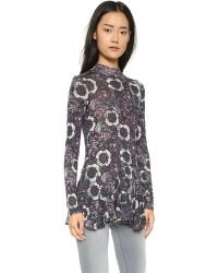 Free People - Purple Anabelle Printed Tunic - Plum Combo - Lyst