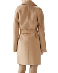Gucci - Natural Double-wool Wrap Coat - Lyst