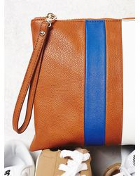 Free People - Brown Matchless Vegan Clutch - Lyst
