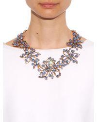 Oscar de la Renta | Metallic Swarovski Crystal Mosaico Necklace | Lyst