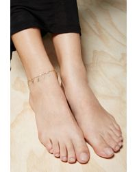 Forever 21 | Metallic Emerald Duv Twinkle Anklet | Lyst