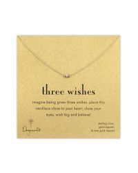 Dogeared - Multicolor Three Wishes Pendant Necklace - Lyst