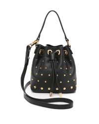 MILLY | Logan Stud Bucket Bag - Black | Lyst