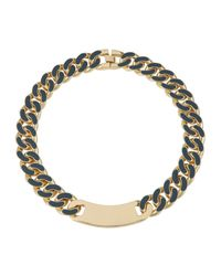 House of Holland | Dark Blue Id Plate Necklace | Lyst