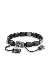 David Yurman | Black Sky Large Tile Bracelet for Men | Lyst