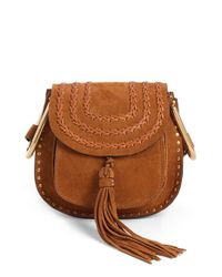 Chloé | Brown Hudson Mini Suede Cross-Body Bag  | Lyst