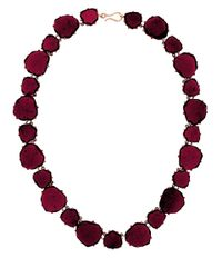 Annoushka | Metallic 18ct Rose Gold And Garnet Shard Necklace | Lyst