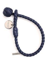 Bottega Veneta | Blue Intrecciato Single-knot Bracelet | Lyst