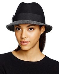 Bettina Blue Two-tone Fedora