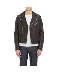 Acne | Black Leather & Suede Gibson Moto Jacket for Men | Lyst