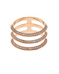 Ileana Makri | Pink White Diamond & Rose-Gold Ring | Lyst