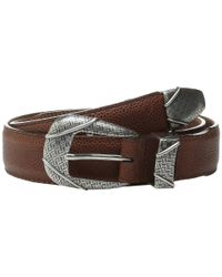 "Brighton | Metallic Branson Taper 1 3/8"" - 1 1/8"" Belt for Men 