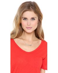 Madewell - Metallic Short Fine Jewelry Collar Necklace - Lyst