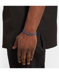 Luis Morais - Blue Puzzle White Gold Beaded Bracelet for Men - Lyst