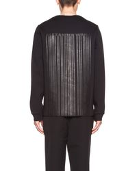 Alexander Wang - Black Men's Bonded Barcode Logo Cotton-blend Sweatshirt - Lyst