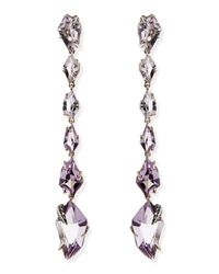 Alexis Bittar Fine - Metallic Cool Heather Marquise Amethyst & Diamond Linear Kite Drop Earrings - Lyst