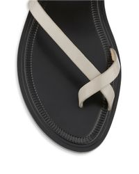 Via Spiga | Natural Gwenda Leather Slip-on Sandals | Lyst