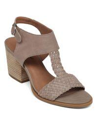 Lucky Brand - Gray Maari High-heel Leather Sandals - Lyst
