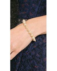Eddie Borgo - Metallic Pave Cone Bracelet - Gold - Lyst