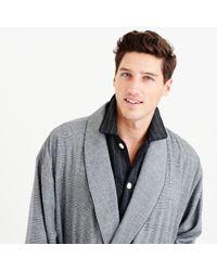 J.Crew Gray Glen Plaid Flannel Robe for men