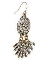 Lulu Frost - Metallic Pavé Sunburst Crystal Earrings - Lyst