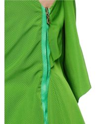 Lanvin Green Oversize Bow Back Faille Dress