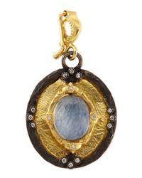 Armenta | Metallic Old World Shield Enhancer Pendant | Lyst