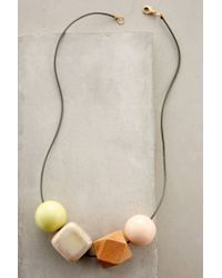 Anthropologie - Orange Quadrature Necklace - Lyst
