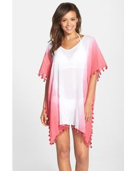 Seafolly Red 'splendour' Fringe Caftan