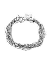 Anne Klein   Metallic Silvertone Ball Chain Multi-Strand Bracelet   Lyst