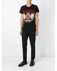 Balmain Black Embroidered T-shirt for men