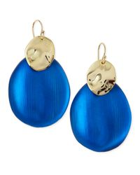Alexis Bittar Blue Liquid Chip Wire Lucite Earrings (Made To Order)