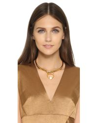 Lizzie Fortunato | Metallic Castles In The Sand Collar Necklace | Lyst
