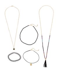 H&M | Black 5-pack Necklaces | Lyst