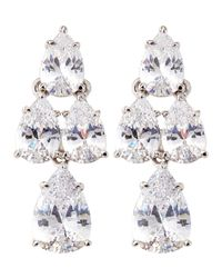 Fantasia by Deserio - Metallic Pear-cut Cz Waterfall Chandelier Earrings - Lyst