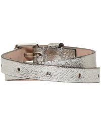 Alexander McQueen   Metallic Silver Double Wrap Bracelet   Lyst