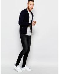 Ted Baker - Blue Knitted Bomber Jacket for Men - Lyst