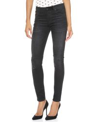 RTA High Waisted Jeans Black Devil