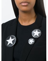 Givenchy | Black Set Of Three Badges | Lyst