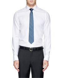 Lanvin - Blue Discontinuous Stripe And Dot Silk Tie for Men - Lyst