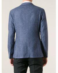 Tagliatore Blue Tweed Blazer for men